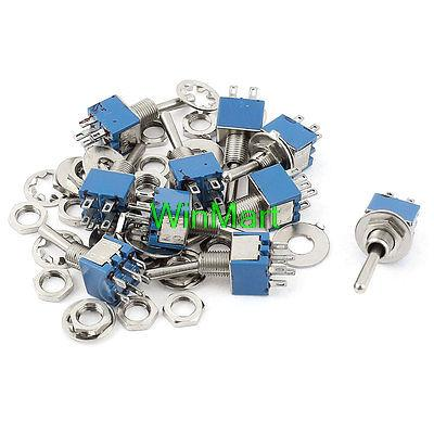 10 Pcs Ac 125v 3a On/on 2 Position 2p2t Dpdt 6 Pins Toggle Switch Without Return Lighting Accessories