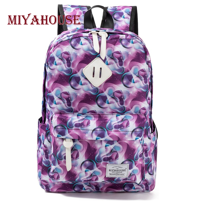 Miyahouse Preppy Style Female Backpacks Vintage Floral Print Bookbags Canvas School Bag For Teenager Girls Travel RucksackMiyahouse Preppy Style Female Backpacks Vintage Floral Print Bookbags Canvas School Bag For Teenager Girls Travel Rucksack