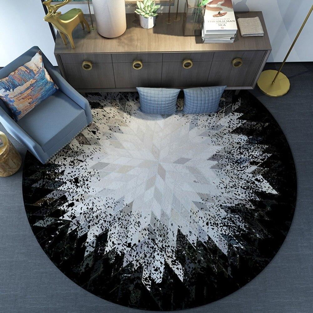 Loartee décor maison salon chambre étude chambre enfants tapis rond antidérapant tapis de salon moderne Style minimaliste