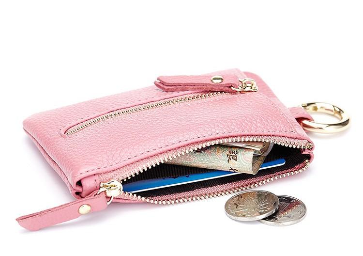 Women genuine leather key wallet 21