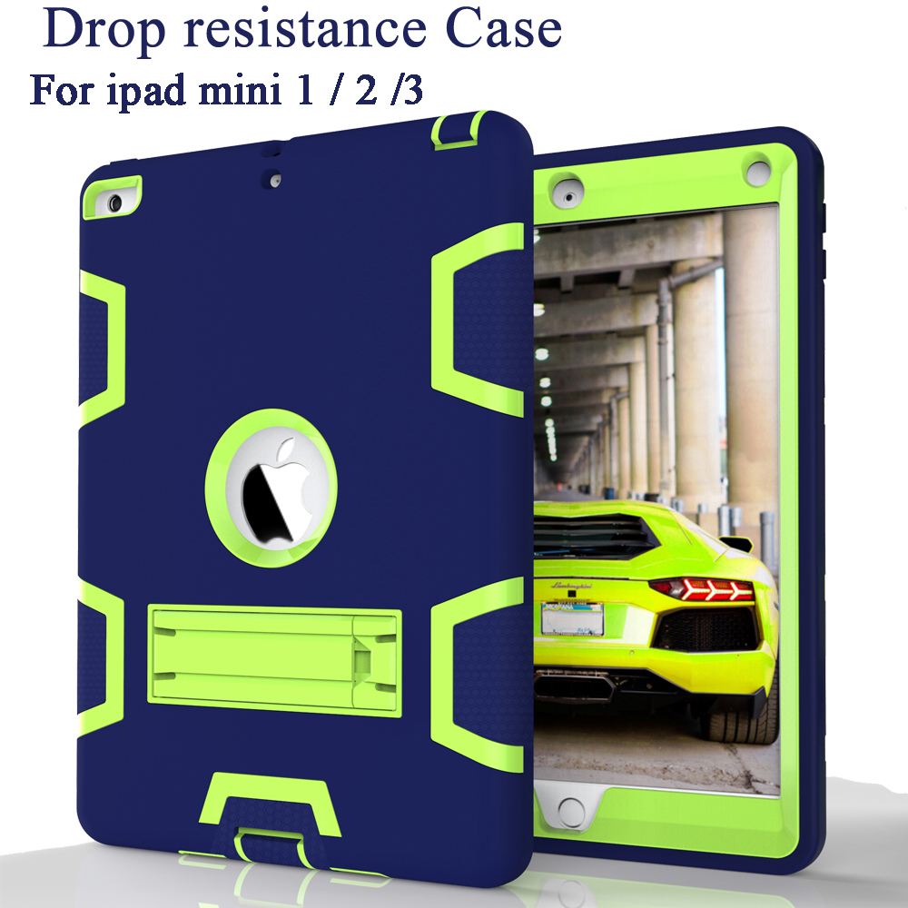 For iPad Mini 2 Mini 3 Case EVA Silicon Heavy Duty Shockproof Hybrid Rubber Rugged Hard  ...