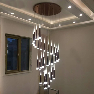 Image 4 - 1 36 heads led stairs pendant lights modern aluminum Acrylic lampbody hang lamp living dining room kitchen suspension luminaire