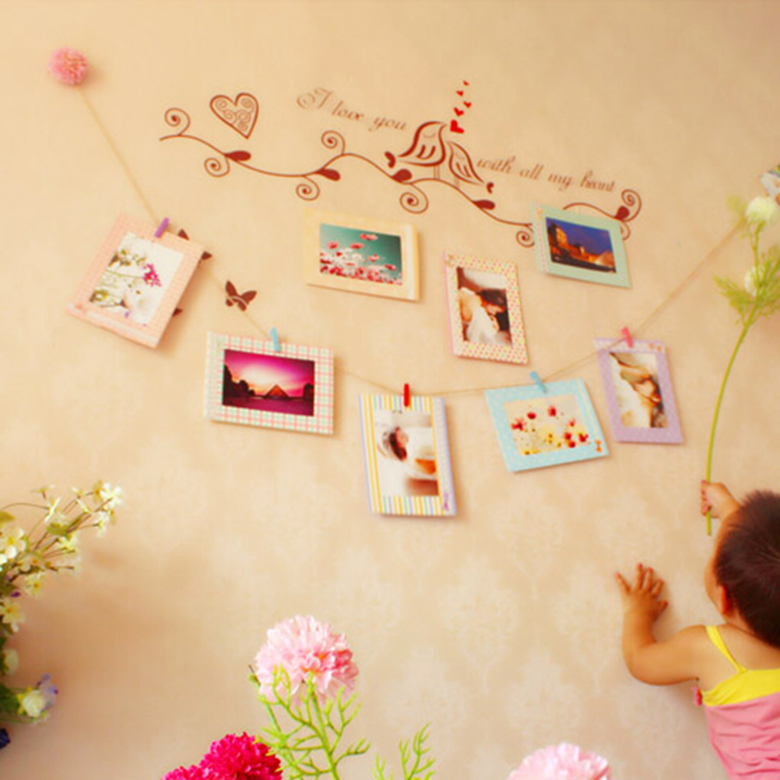 Fancy Wall Decoration Using Paper Sketch - Art & Wall Decor ...