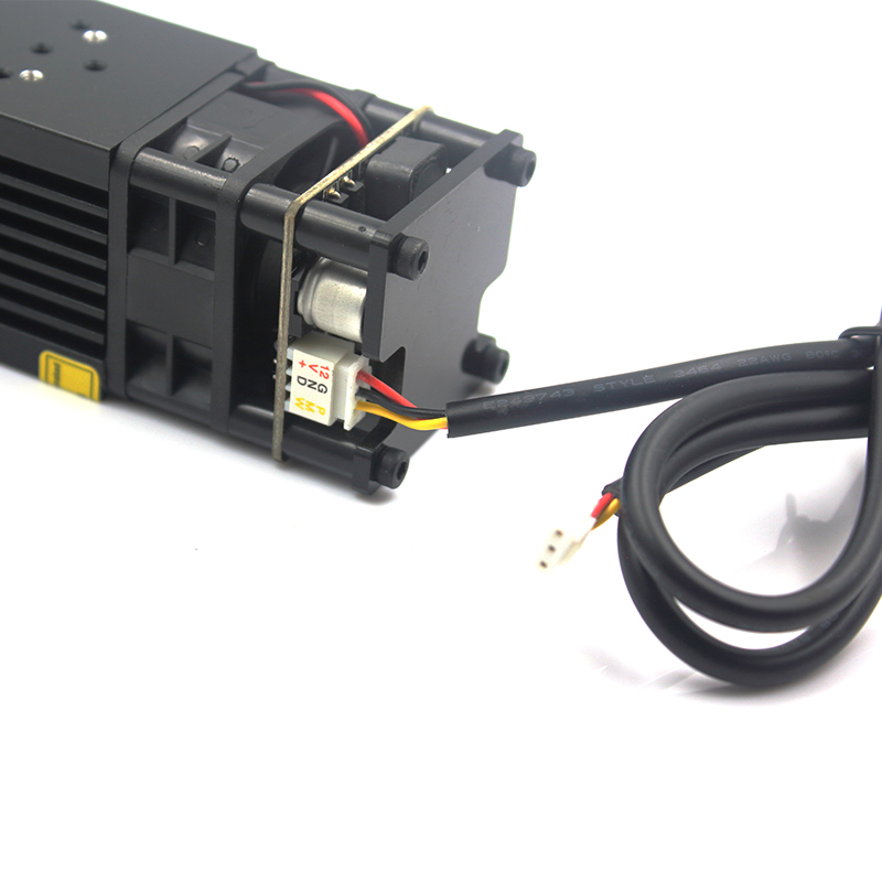 Image 2 - oxlasers powerful 450nm 15W 15000mW blue laser module DIY laser head for CNC laser engraving machine and laser cutter with PWMWoodworking Machinery Parts   -