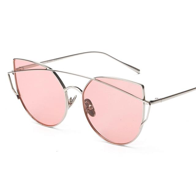 Mode Runden Rahmen Farbe Spiegel Sonnenbrille Männer Und Frauen Sonnenbrillen Goldrahmen ujqERRzy