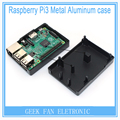 New Raspberry Pi Black Aluminum case Metal Box with Heatsink Function For Raspberry Pi 2&Raspberry Pi model b plus&3 RP0013B