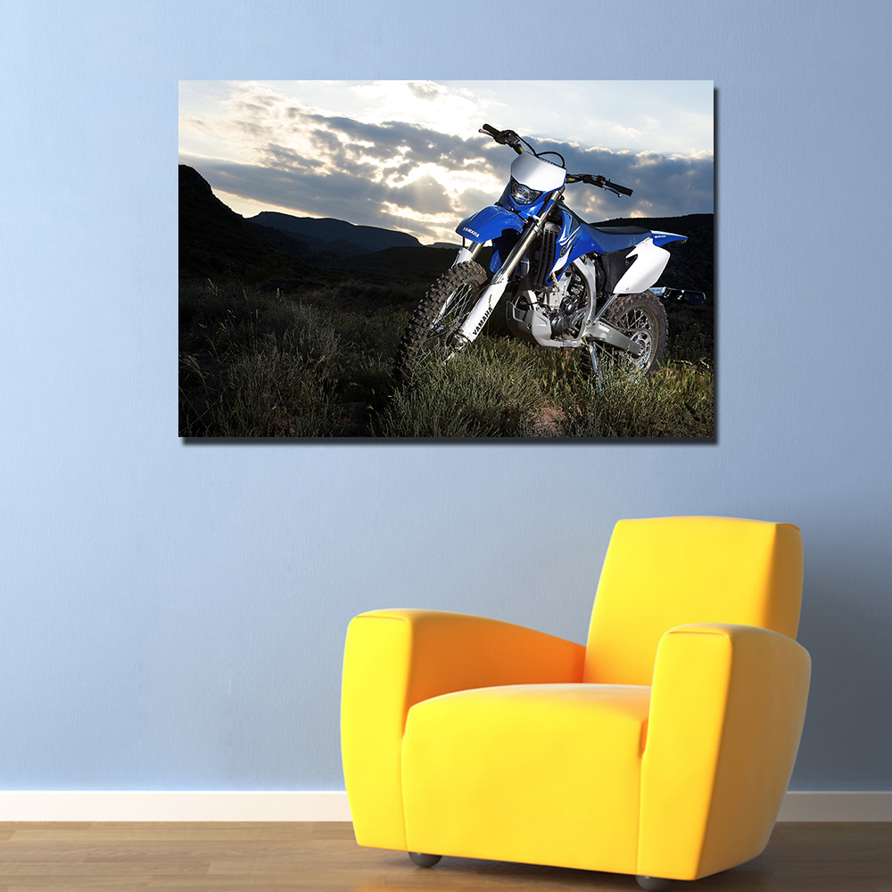 Yamaha Motocross Bike Blue Giant Wall Art Poster Print