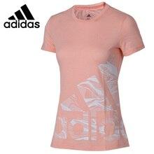 Оригинальное новое поступление, футболка с логотипом Адидас Ади, женские футболки, спортивная одежда с коротким рукавом