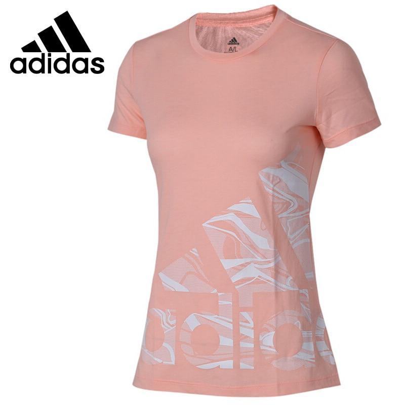 Rollschuhe, Skateboards Und Roller Professioneller Verkauf Original Neue Ankunft 2018 Adidas Adi Logo T Frauen T-shirts Kurzarm Sportswear Clear-Cut-Textur