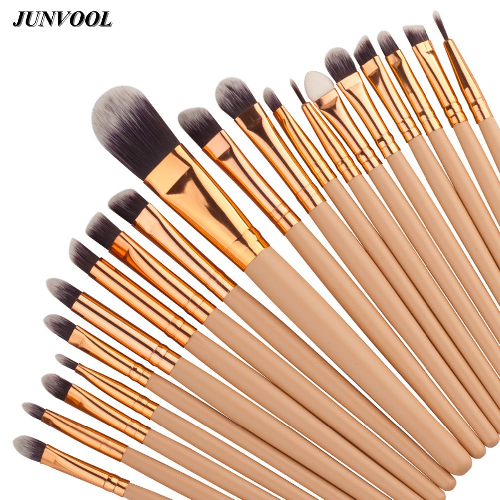 20Pcs Gold Makeup Brushes Set Powder Blush Foundation Eyeshadow Eyeliner Lip Cosmetic Brush Kit Beauty Tools Brochas Maquillaje 25pcs makeup brushes set woodcolor nylon eye foundation powder eyeshadow eyeliner blush brush make up cosmetic tools kit bag