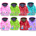 Niños chaqueta impermeable abrigos para niñas niños deportes prendas de vestir exteriores zanja niño cerdo de la historieta ropa de bebé ropa de los cabritos