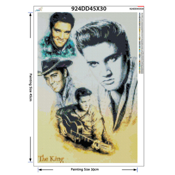 Full Square Round Drill 5D DIY Diamond Painting Elvis Presley 3D Embroidery Cross Stitch Rhinestone