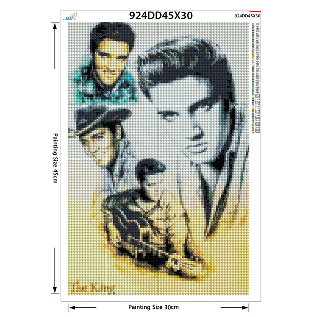 Full Square Round Drill 5D DIY Diamond Painting Elvis Presley 3D Embroidery Cross Stitch Rhinestone Home