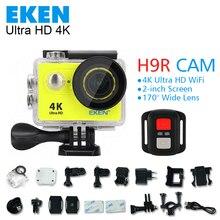 Оригинал Экен H9/H9R действий камеры 4 К wi-fi Ultra HD 1080 P 60fps 170 перейти водонепроницаемый мини-камера pro спорт камеры go hero sj 4000 свинарник