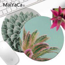 MaiYaCa Succulent Splendour Comfort Round Mouse Mat Gaming Mousepad Computer pad anime Best Mats for Gamer Gift desk mat