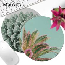 MaiYaCa Succulent Splendour Comfort Round Mouse Mat Gaming Mousepad Computer Mouse pad anime Best Mats for Gamer Gift desk mat(China)