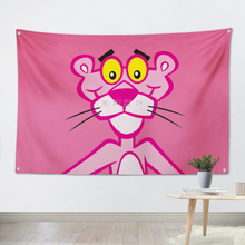 Pink Naughty Leopard Anime Decorative Hanging Cloth Dormitory Bedroom Tapestry Photo Background Curtain Wall Tapestries