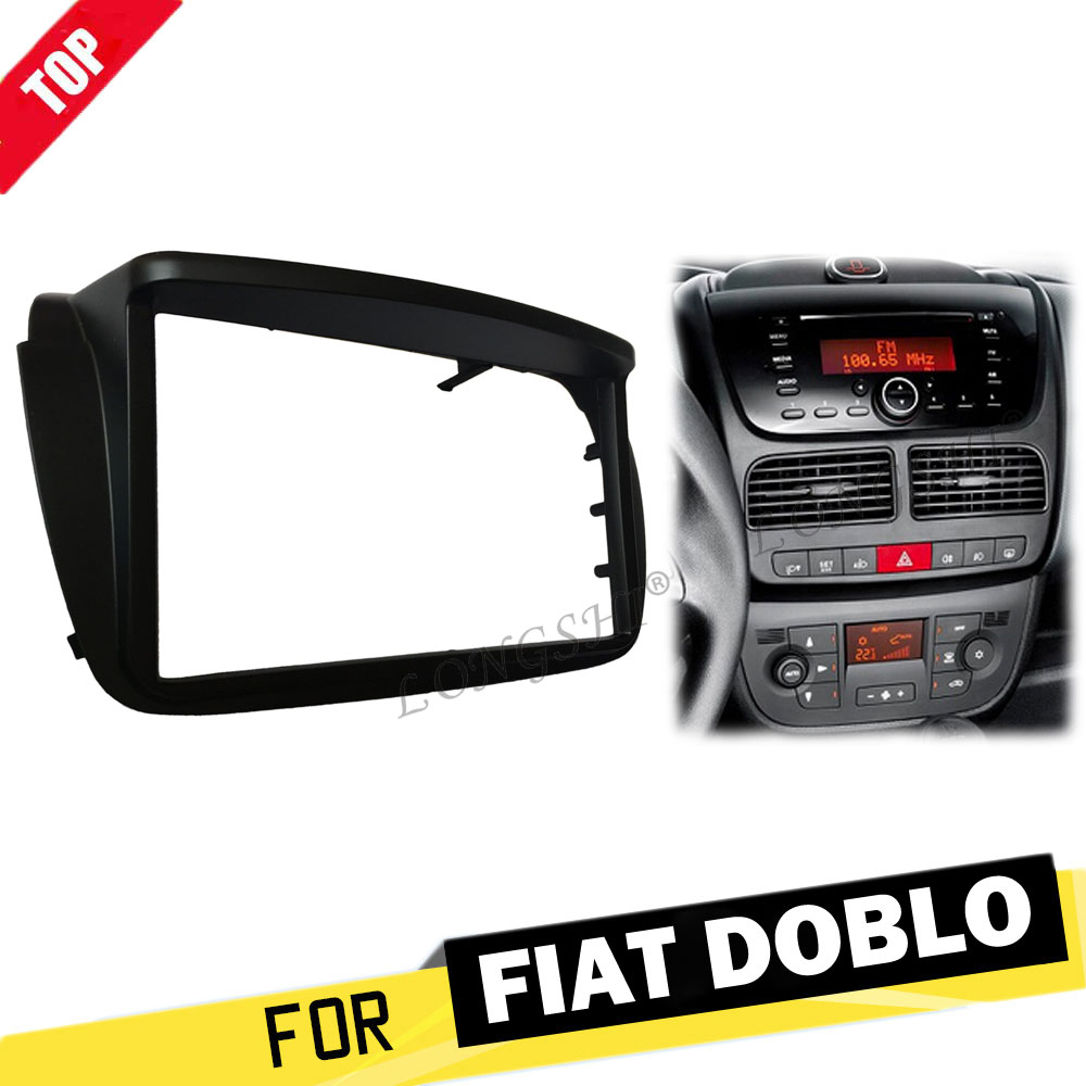 LONGSHI Top Quality 2 Din Car Stereo Fascia for Fiat Doblo 2010+ for Opel Combo Panel Facia Plate Frame Adapter 2dinLONGSHI Top Quality 2 Din Car Stereo Fascia for Fiat Doblo 2010+ for Opel Combo Panel Facia Plate Frame Adapter 2din