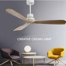 Nordicสไตล์VINTAGEเพดานพัดลมไม้ไม่มีแสงการออกแบบสร้างสรรค์ห้องนอนห้องอาหารโคมไฟเพดานแฟนจัดส่งฟรี
