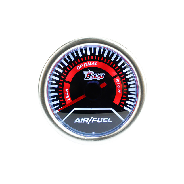 "Free shipping 2""/ 52mm Smoke Air Fuel Ratio Gauge Car meter ,Retail sale,Super Bright Led lighting /car gauge/tachometer"