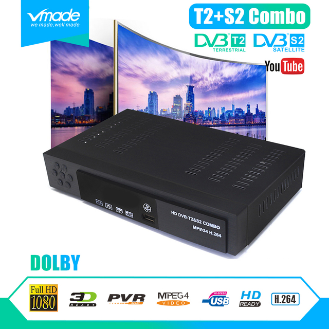 Digital dvb t2 + S2 combo full HD satellite receiver DVB T2 + S2 8902 1080P TV box  dvb t2 s2 decoder support Dolby  cccam  IPTV