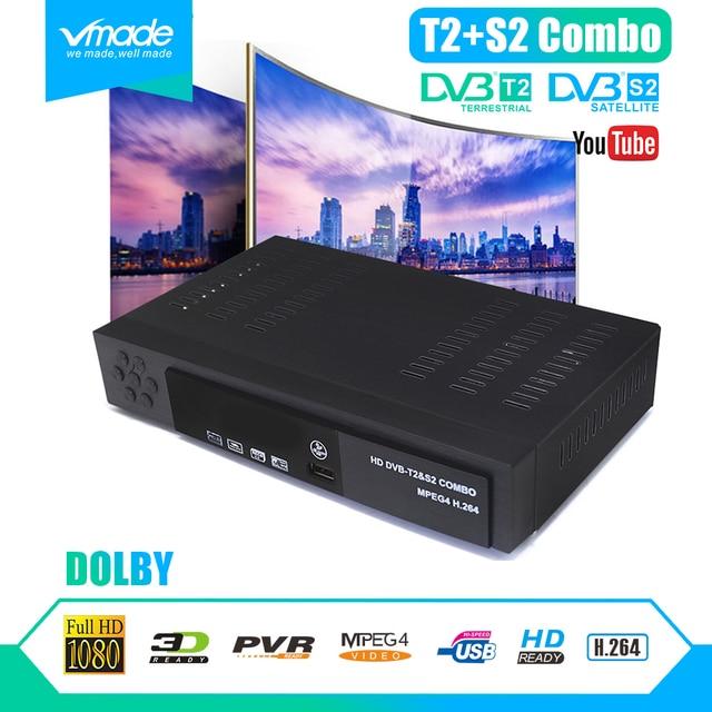 ดิจิตอล dvb t2 + S2 combo full HD DVB T2 + S2 8902 1080 P กล่องทีวี dvb t2 s2 decoder สนับสนุน Dolby cccam IPTV