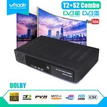 الرقمية dvb t2 + S2 كومبو كامل جهاز استقبال قمر صناعي عالي الوضوح DVB T2 + S2 8902 1080P TV box dvb t2 s2 فك دعم Dolby cccam IPTV