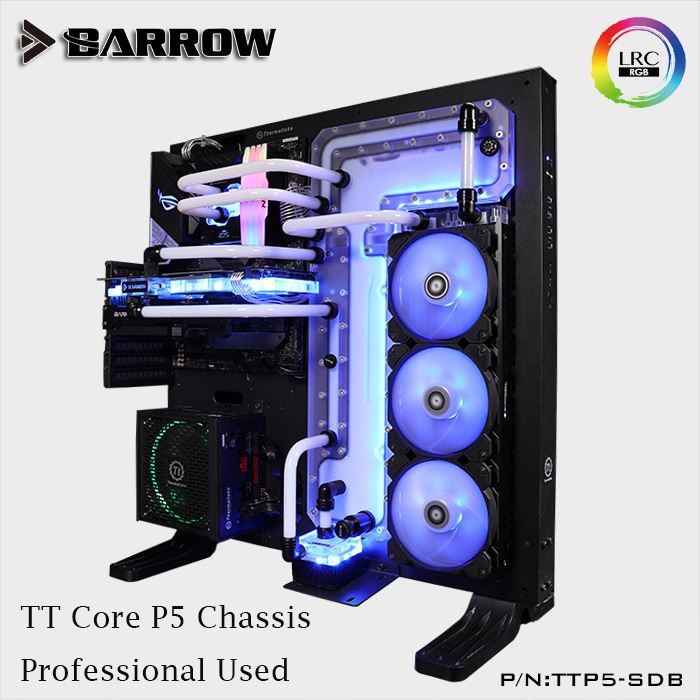 Barrow LRC 2 0 water cooling waterway board for TT Core P5 computer case acrylic Reservoir