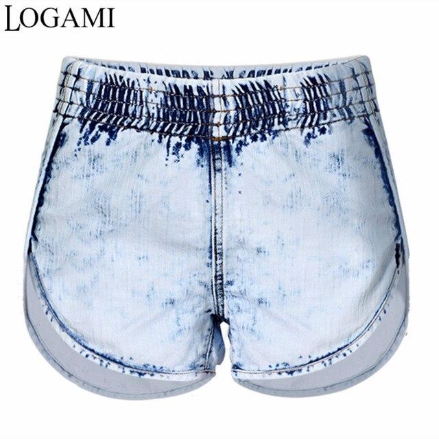 532984ca5c Pantalones Vaqueros cortos Feminino Sexy Elástico de Cintura Alta  Pantalones Cortos de Mezclilla Para Las Mujeres