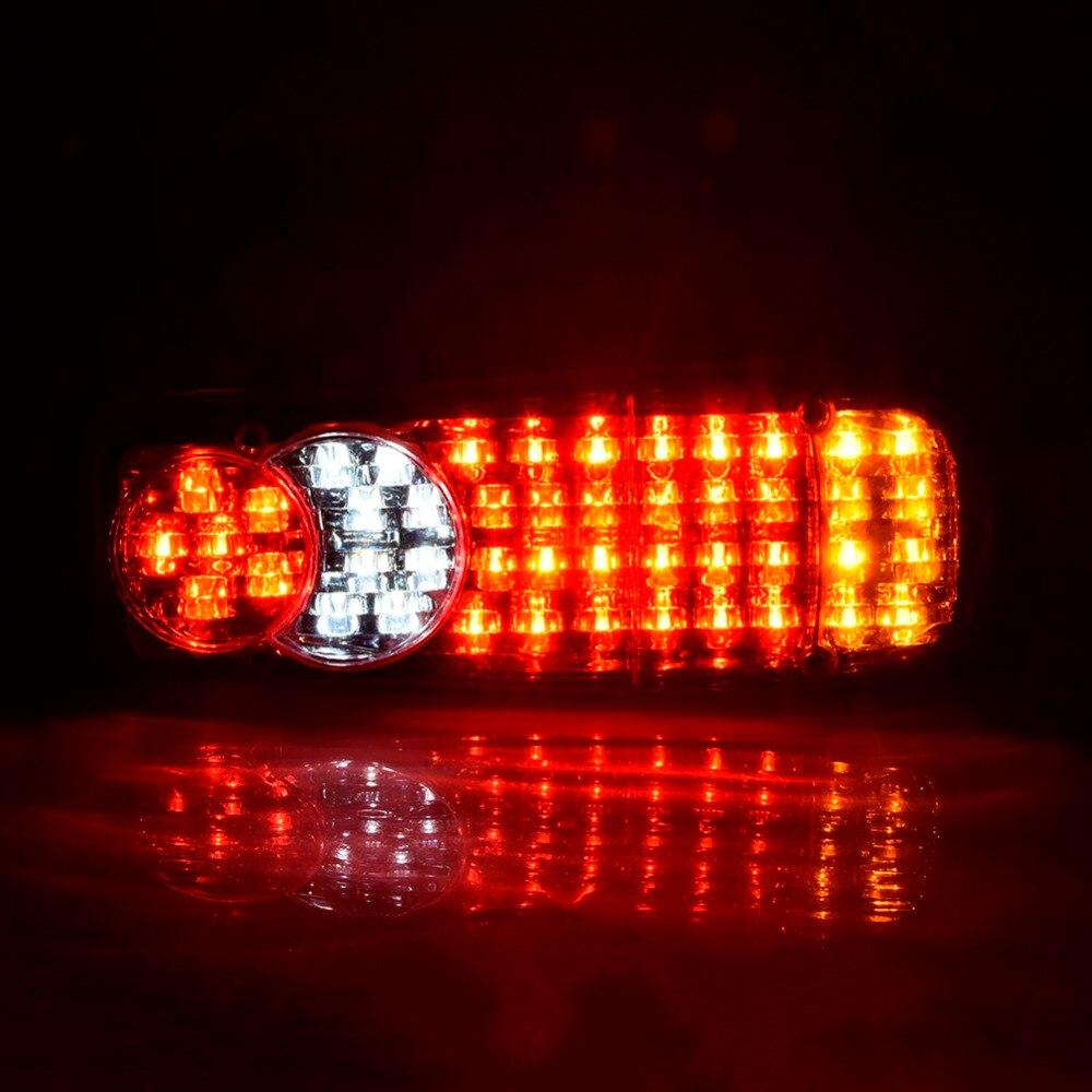HOT 1pc 12V/24V Truck Trailer Rear Light 46 LED Lamps Camper Indicator Reverse Van Car Trailer Lorry Taillight Waterproof
