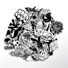 60 ШТ. Черный и Белый Прохладный DIY Наклейки Для Багажа Скейтборд Ноутбука Сноуборд Холодильник Телефон Игрушка Дизайн Домашний Декор Наклейки