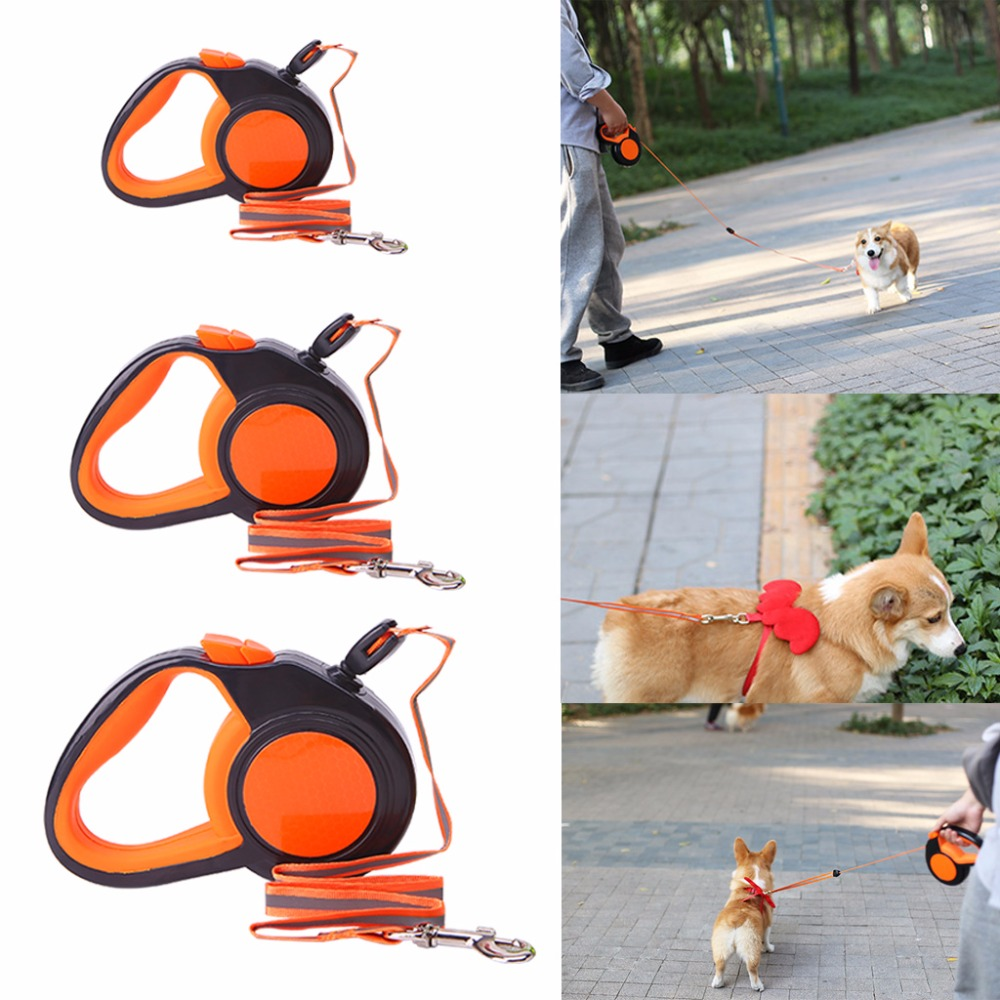 3M/5M/8M Length Retractable Dog Leash Automatic Reflective Walking Leads For Small Medium Dogs