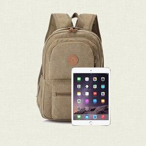 Image 5 - 2020 nowych moda w stylu Vintage człowieka plecak torba podróżna mężczyzna plecaki mężczyźni dużej pojemności torby szkolne na ramię
