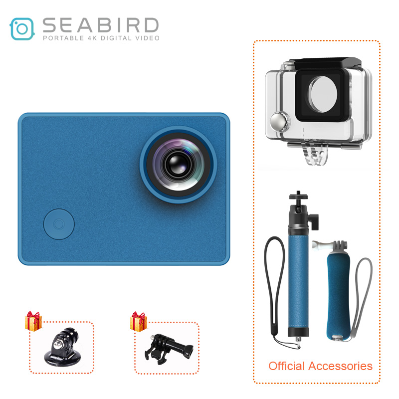 Seabird 4K Sports Action Video Cameras, 4k/30FPS 145 Degree Wide Angle 12MP 2.0 IPS HD Touch Screen WiFi Action Camera image