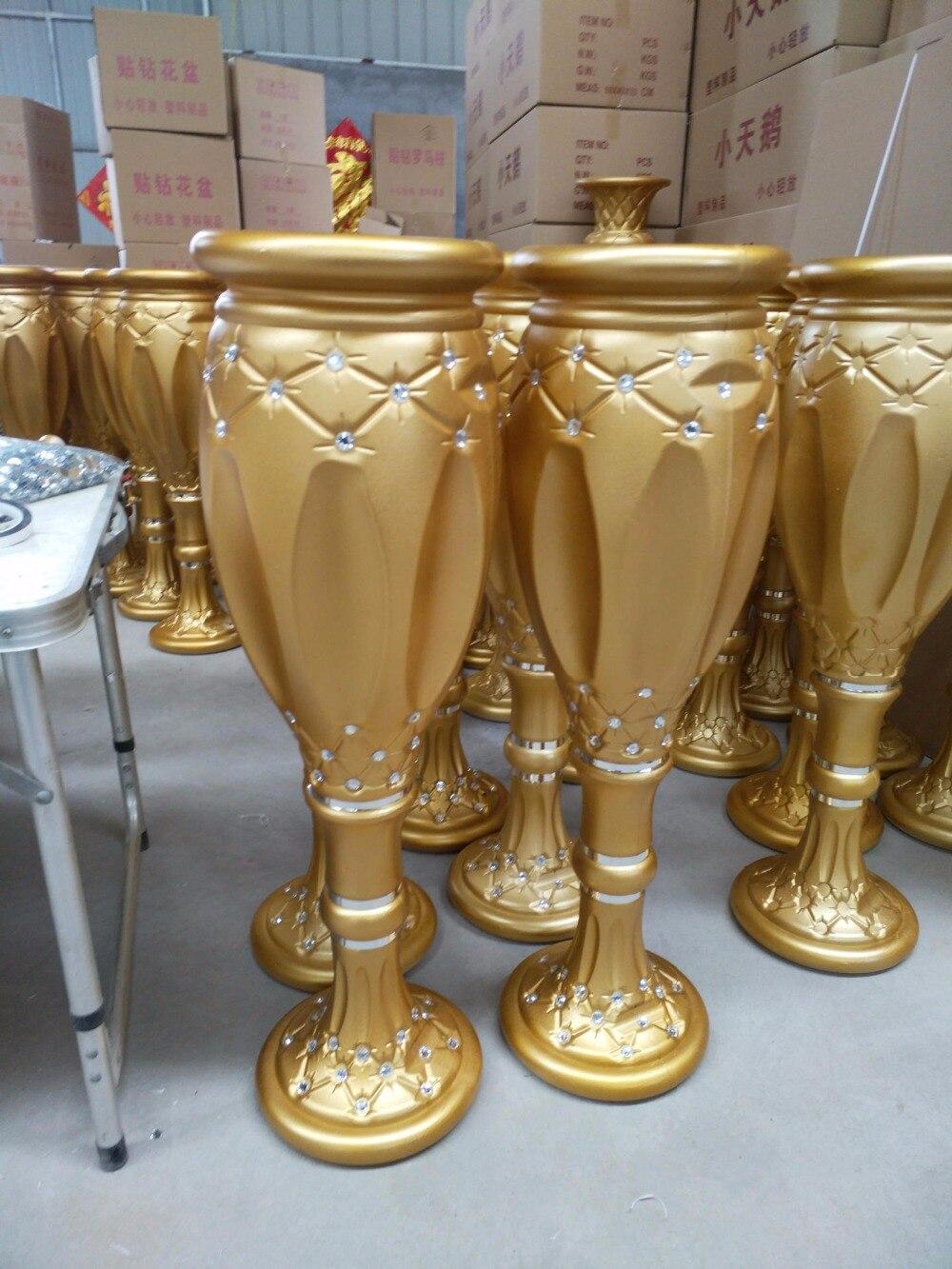 nueva cm de alto romana pilares carretera macetas macetas de plstico de color oro accesorios de la boda decoracin de evento