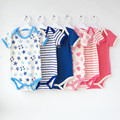 5pieces/lot short-Sleeved Baby Infant cartoon bodysuits for boys girls jumpsuits Clothing 2014 new free shipping
