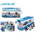 Ônibus da cidade blocos de construção 235 pçs/set kit modelo de construção diy enlighten educacional crianças presentes brinquedo lightaling