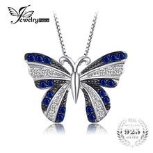 JewelryPalace Mariposa 0.4ct Creado Espinela Azul Colgante 100% No Incluye Una Cadena De Plata de Ley 925 Encanto de La Moda de la Mujer