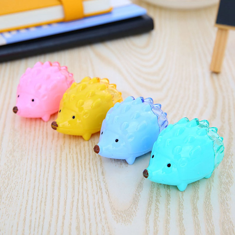 Back To Search Resultsoffice & School Supplies 1pcs Color Random Kawaii Hedgehog Design Double Orifice Mini Pencil Sharpener Children Cartoon Pencil Sharpener To Suit The PeopleS Convenience