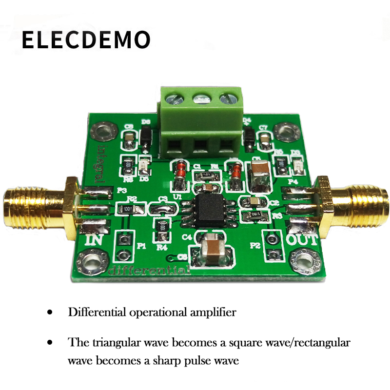 Analog Integral Operational Amplifier Module Low Frequency Signal Waveform Change Can be changed to Differential Operation Circu-in Demo Board Accessories from Computer & Office