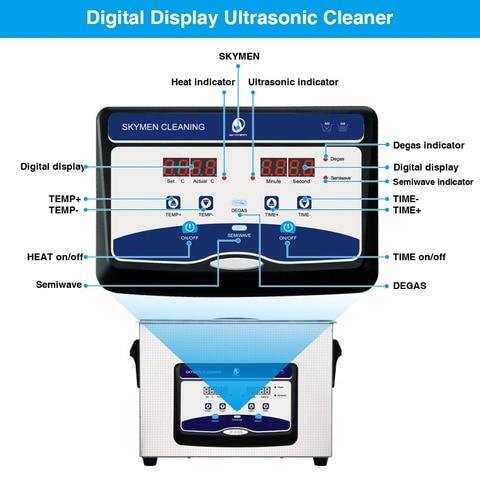 SKYMEN Digital Ultrasonic Cleaner Bath 4L 4.5L 180W 110/220V Ultrasonic cleaner portable printhead cleaner machine Multan