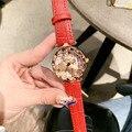 Китай Культура свинья год Вращающийся удачи часы Прекрасный золотой свинья спиннинг часы водонепроницаемый ремешок из натуральной кожи на...