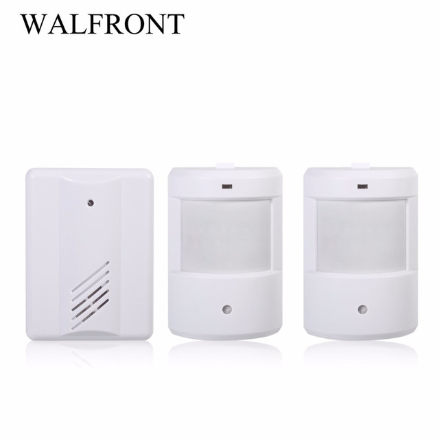 433MHZ Wireless Doorbell Infrared Monitor Sensor Door Bell Detector Entry  Doorbell Alarm Transmitter Home Doorbells