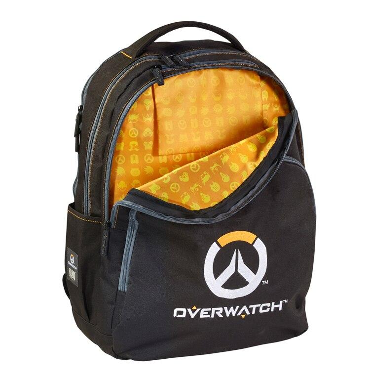 Мужской холщовый рюкзак для Overwatch школьная сумка дорожная сумка Многофункциональный рюкзак для ноутбука большой емкости 55 см (H) * 43 (W)