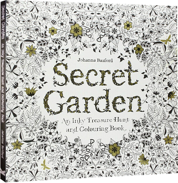 Secret Garden An Inky Treasure Hunt And Coloring Book For Children Adult Relieve Stress Painting Drawing