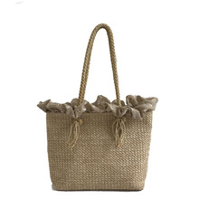 2018 High Quality Straw Bags Women Summer Rattan Bag Female Handmade Woven Beach Shoulder Bag Bohemia Handbag Bali Tote Bags недорого