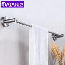 цена Towel Bar Holder Stainless Steel Bathroom Towel Rack Hanging Holder Wall Mounted Washroom Clothes Robe Rails Storage Shelf онлайн в 2017 году