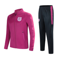 Barcelona Children & Adult Training Suit Long Sleeved family dad&son Football Clothing Suit Kids Football Jersey Sportwear Sets