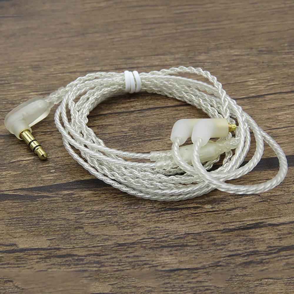 все цены на High Quality MMCX Plug for Shure SE215 SE315 SE535 SE846 UE900 Earphone Silver Plate Cable 3.5mm Upgrade Replacement Audio Line онлайн