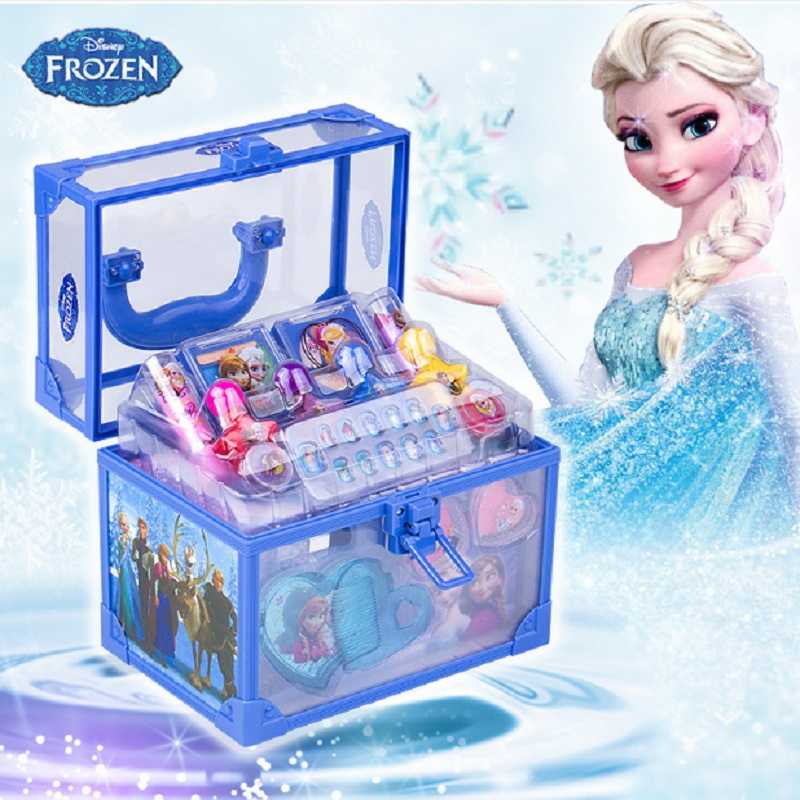 Disney Frozen girls toys for kids Makeup child birthday party gift games for girls toys child makeup learning toys for children